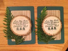images about Wood Chip Save the Dates Save