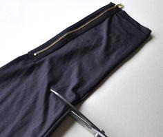 Turn old leggings into a fancy pouch