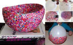 manualidades bowl de confeti