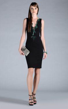 Black Embellished Evening Dress by Roberto Cavalli