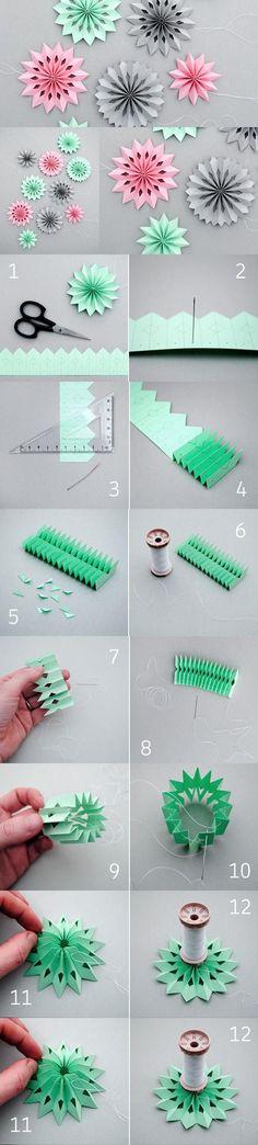 Cómo hacer guirnaldas de papel