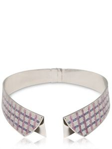 Shop for Collar Shirt Diamonds Pave Necklace by Delfina Delettrez at ShopStyle. Collar Shirts, Collars, Luxury Shop, Summer Jewelry, Pink Sapphire, Collar Necklace, Necklace Designs, Chokers, Fashion Jewelry