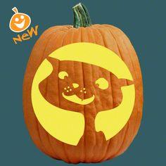 cute cat pumpkin template