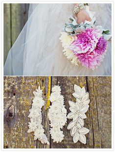 those #rhinestone hai#rclips compliment the natural simplicity of her #bouquet for a perfect contrast