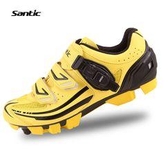 Santic Men's MTB Cycling Shoes Zapatillas Ciclismo Bicycle MTB Cycling Shoes Men Cleated Shoes Zapatos Bike
