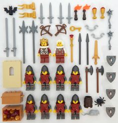 10 NEW LEGO CASTLE KNIGHT MINIFIG LOT Kingdoms figures minifigures people orc