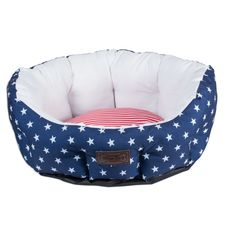 DII Bone Dry Red, White and Blue Pet Bed For Dogs and Cats, Americana 4th Of July Stars and Stripes Pattern, Circular Bed - 25X24X11' ** Click image for more details. #CatBedsandBlankets