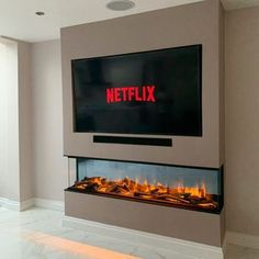 Buy Home Furniture Online | Housing Units Manchester Fireplace Feature Wall, Feature Wall Living Room, Living Room Decor Fireplace, Fireplace Tv Wall, Living Room Tv Unit, Modern Fireplace, Fireplace Design, Home Living Room, Ethanol Fireplace