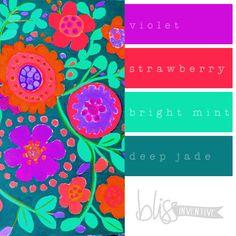 bliss-inventive-palette-floral-violet  | Fascinator colour combo ideas