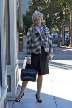 houndstooth and pencil skirts