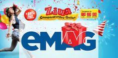 """Maine 12 Martie incepand de dimineata de la ora 7:00 avem """"Ziua cumparaturilor online"""" la eMAG o campanie de reduceri in care pe langa preturile promotionale vom mai avem si 10% din pret inapoi prin card cadou."""