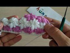 İncili krizantem çiçeği lif, battaniye,bere,atkı,yelek, kırlent modeli - YouTube