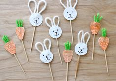 Bunny and Carrot Cupcake Toppers – MADE EVERYDAY
