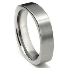 Titanium 6mm Satin Finish Square Wedding Band Ring also $70, check out this website yo