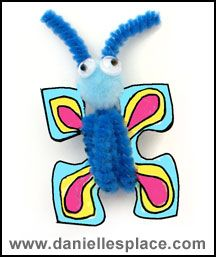 Preschool Butterfly Puzzle Piece Craft From www. Fun Crafts For Kids, Summer Crafts, Toddler Crafts, Diy For Kids, Crafts To Make, Bug Crafts, Camping Crafts, Preschool Crafts, Paper Crafts