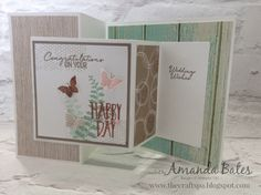 The Craft Spa - Stampin' Up! UK independent demonstrator : Fancy Fold Friday - Butterfly Basics & Serene Scenery Double Z Joy Fold Card