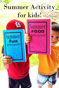 Free summer FUN printables for kids. There is a very detailed video with very specific, yet very simple instructions. You can choose summer fun or summer food. Great idea to make memories this summer. from brassyapple