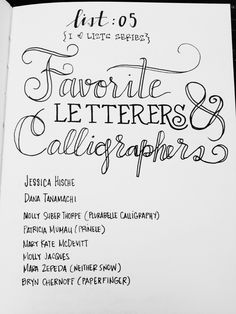 """I should start a blog called """"Lists and Lettering"""" Haha // I love lists so I made myself an """"I ❤Lists Series"""" in my sketchbook. Anytime I feel inspired to write a list, I hand-letter the heading of each list for practice. it's so fun to fulfill both nerdy loves of mine. anyone want to do it with me?? :)"""