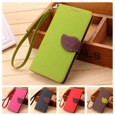 Leaf Clasp PU Leather Case for Samsung S4 Case I9500 with 2 Card Holders Wallet Cover for Samsung Galaxy S4 Case Coque Fundas