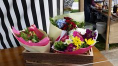 Ready to go bouquets of market fresh flowers.