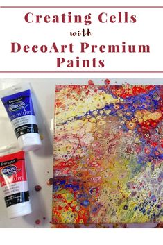 Learn how to use DecoArt Premium Acrylic Paints to create cells in Acrylic Pouring! via @acrylicpouring