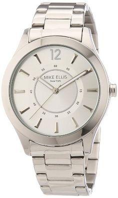 Mike Ellis New York Damen-Armbanduhr Analog Quarz Edelstahl M2756ASM - http://uhr.haus/mike-ellis-new-york/mike-ellis-new-york-damen-armbanduhr-analog-quarz