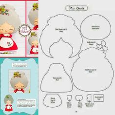 Want to know more about DIY Christmas Projects Felt Christmas Decorations, Felt Christmas Ornaments, Christmas Art, Christmas Projects, Felt Crafts, Holiday Crafts, Felt Doll Patterns, Theme Noel, Christmas Sewing
