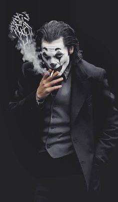 Joker Smoke Laugh iPhone Wallpaper - iPhone Wallpapers - Best of Wallpapers for Andriod and ios Art Du Joker, Le Joker Batman, Batman Joker Wallpaper, Joker Iphone Wallpaper, Graffiti Wallpaper, Joker Wallpapers, Joker And Harley Quinn, Cartoon Wallpaper, Iphone Wallpapers