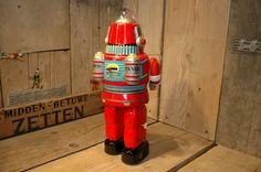 Osaka TIN TOY Institute RED Astronaut Space Robot Japan NEW IN BOX | eBay