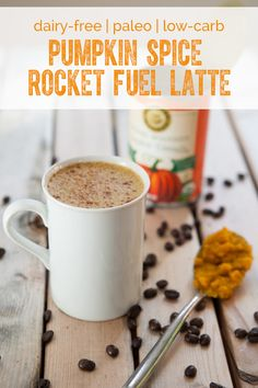 Keto, dairy-free latte recipe with oil that acts like rocket fuel for your body and brain, boosting your metabolism and providing steady energy all day through.