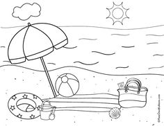 Beach Coloring Sheets free printable beach coloring page and a fun activity sheet Beach Coloring Sheets. Here is Beach Coloring Sheets for you. Beach Coloring Sheets free printable beach coloring page and a fun activity sheet. Snake Coloring Pages, Beach Coloring Pages, Coloring Pages For Boys, Flower Coloring Pages, Free Printable Coloring Pages, Coloring Book Pages, Mandala Coloring, Adult Coloring, Kindergarten Coloring Pages