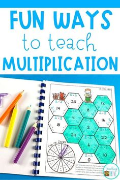 Help your class learn their multiplication facts with games, activities and resources. Make mastering multiplication and teaching the times tables fun. Multiplication Games For Kids, Multiplication Chart, Math Fractions, Fun Math, Math Games, Math Math, Word Work Activities, Printable Activities For Kids, Educational Activities