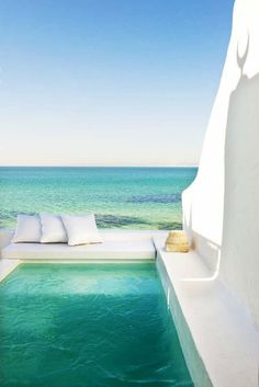 i-love-tunisia: Dar El Bhar in Hammamet, Tunisia.For more visit… Beautiful World, Beautiful Places, Dream Pools, Cool Pools, Oh The Places You'll Go, Belle Photo, Dream Vacations, Outdoor Living, Outdoor Spaces