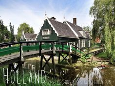 Zaanse Schans, Holland. Find more things to see and do in Amsterdam at: http://mikestravelguide.com/destinations/things-to-do-in-amsterdam/