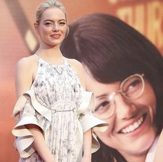 """Emma Stone at """"The Battle of The Sexes"""" premiere in London ✨❤️"""