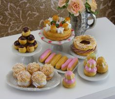 Pages and pages of very well done polymer clay foods. Pâte à Choux Collection by Shay Aaron, via Flickr