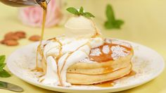 How to Make Japanese-style Pancakes (Hotcake) (cake flour, milk, flour, vanilla, egg, veggie oil, sugar)