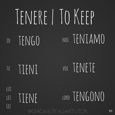 Italian Verb 'To Keep'