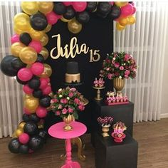 Party Pink Decorations Diy Bridal Shower Ideas For 2019 Balloon Decorations Party, Birthday Party Decorations, Baby Shower Decorations, Birthday Parties, Pink Decorations, Paris Themed Birthday Party, Party Themes, Bachelorette Decorations, Birthday Balloons
