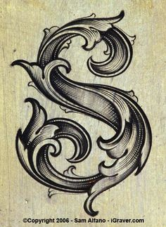 i like this letter design.  S for my maiden name