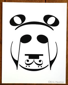 PANDA music art print, available in 5x7, 8x10, and 11x14, Starting at $12