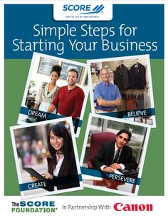 Learn how to start your own business with this workbook sponsored by Canon USA