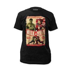 Marvel Avengers Age Of Ultron Hulk Vs Hulk Buster Men's T-shirt (x-large)