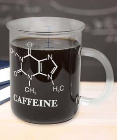 Another great find on Caffeine Molecule Laboratory Beaker Mug by thumbsUp! Coffee Is Life, I Love Coffee, Coffee Art, My Coffee, Coffee Shop, Morning Coffee, Coffee Cups, Morning Joe, Coffee Break