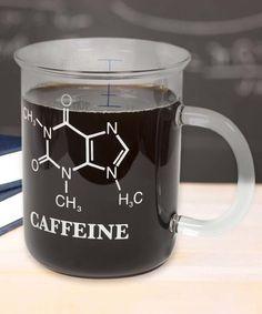 Love this Caffeine Molecule Laboratory Beaker Mug on #zulily! #zulilyfinds