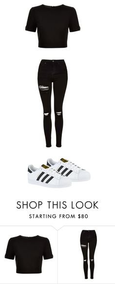 """Cuteee"" by quadivaedwards ❤ liked on Polyvore featuring Ted Baker, Topshop and adidas"