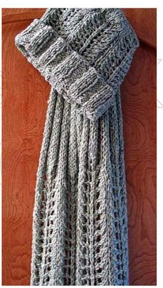 Free Lace Hat and Scarf Knitting Pattern
