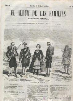 PERIODICO.AÑO 1860.VOLUNTARIOS DE CATALUÑA A LA GUERRA DE AFRICA.MARRUECOS.CEUTA.BATALLON. PRIM.