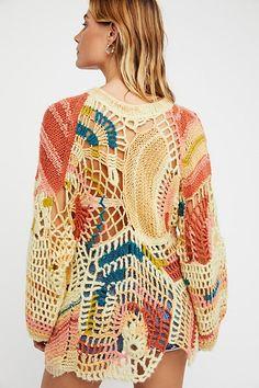 Slide View 3: Sherbert Crochet Pullover