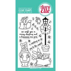Ellen Hutson LLC - Avery Elle Clear Stamps, Caroling Critters, $15.00 (http://www.ellenhutson.com/avery-elle-clear-stamps-caroling-critters/)
